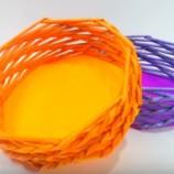 Podrobný návod ako vyrobiť košík z papiera
